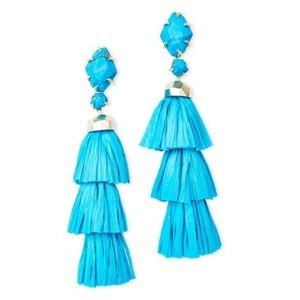 New Kendra Scott Denise Statement Earrings in Aqua